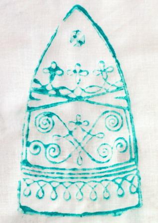 Textildruck mit Papp