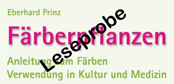 Leseprobe Buch Färberpflanzen