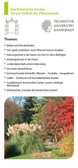 Tag der offenen Tür Botanischer Garten Darmstadt