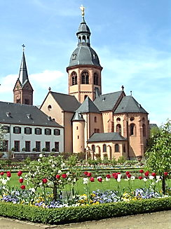 Kloster Seligenstadt mit Klostergarten, Färberpflanzen, Färbergarten